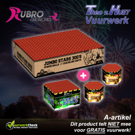 Jumbo Stars 300's + Power Balls + Crackling Shots