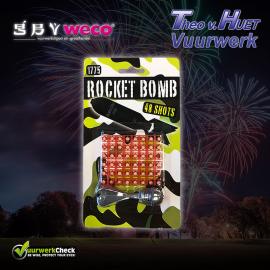 Iron Rocket Bomb (incl.48 knallers) Cat. F1, Ook navulling verkrijgbaar !!