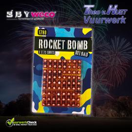 Rocket Bomb Reload NAVULLING (2x 72 knallers) Cat. F1 (LET OP: U heeft de Iron Rocket Bomb nodig voor dit navulling setje!!)