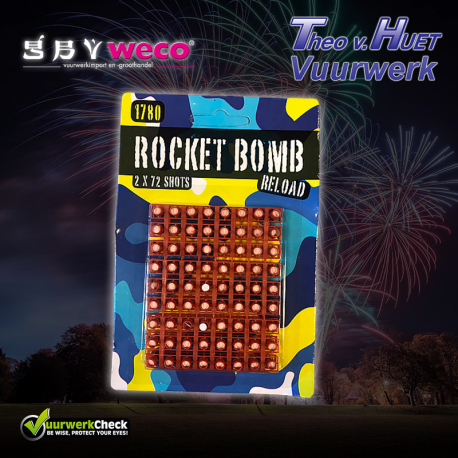 Rocket Bomb Reload (2x 72 knallers) Cat. F1